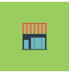 shop flat icon vector image