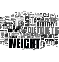 why fad diets dont work text word cloud concept vector image