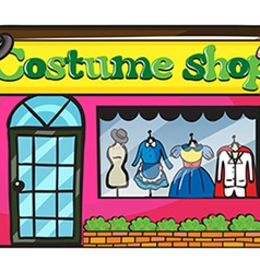 A costume shop vector image