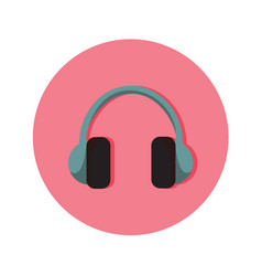 audio headphone icon graphic vector image