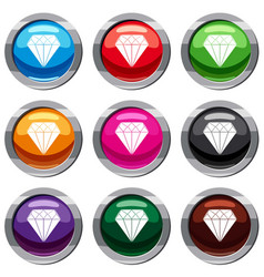 diamond set 9 collection vector image vector image