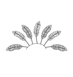figure beauty diadem of feathers design decoration vector image vector image