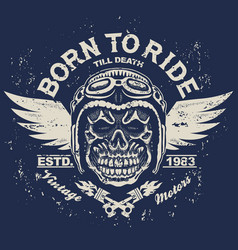 motorcycle t-shirt graphics vector image vector image