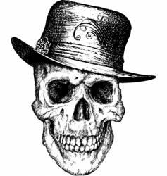 pimp skull illustration vector image vector image