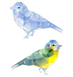 polybirdbirds with geometric pattern vector image vector image