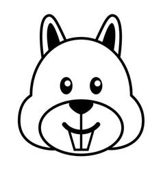 simple cartoon of a cute squirrel vector image vector image