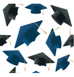 student hat pattern background vector image