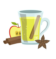 apple cinnamon and anise smoothie non-alcoholic vector image