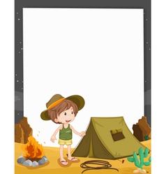 Camping Border vector image