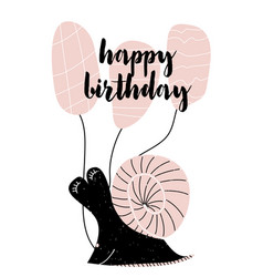 card with calligraphy lettering happy birthday in vector image vector image
