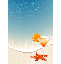 Cocktails on the beach vector image