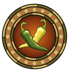 mexican chili logo vector image vector image