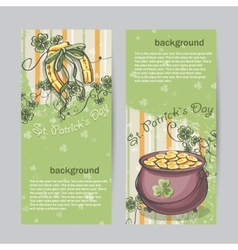 Set of vertical banners for St Patricks Day with vector image