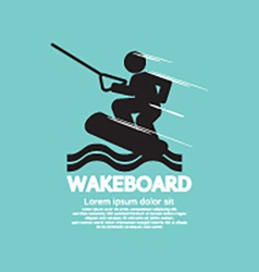Wakeboard Player Symbol vector image vector image