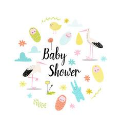 baby shower celebration invitation card vector image