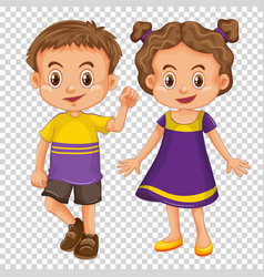 Cute children on transparent background vector