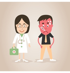 Doctor and patient vector image vector image