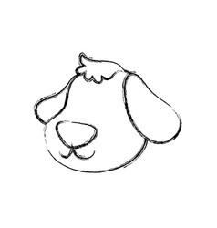 dog cartoon drawing head faceless vector image vector image