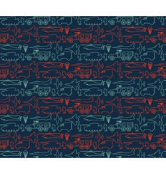 seamless military pattern 14 vector image vector image