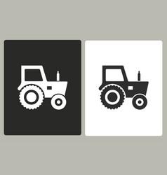 tractor - icon vector image