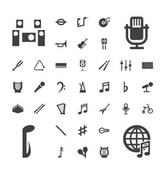 37 musical icons vector