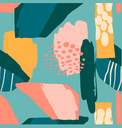 Abstract artistic seamless pattern with trendy vector