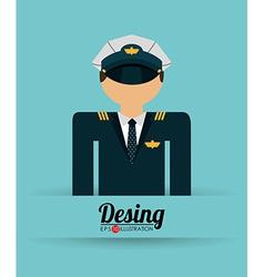 airplane pilot vector image
