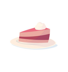 all sweeties dream about cake with cherry vector image