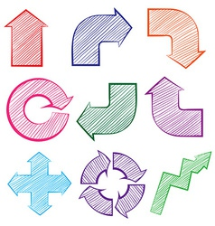 Arrows with different directions vector