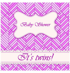 Baby-shower-abstract-background-twins-4 vector