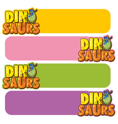Banner template with dinosaur eggs vector