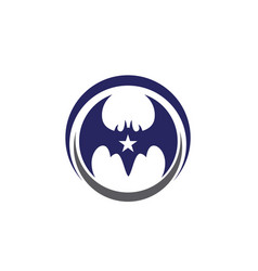 Bat icon logo template vector