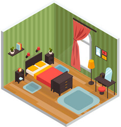 bedroom interior concept vector image