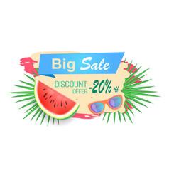 Big sale discounts banner vector