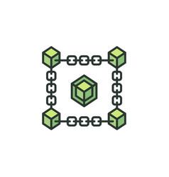 blockchain cryptocurrency creative green vector image
