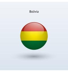 Bolivia round flag vector