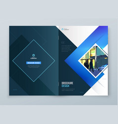 brochure cover background design blue corporate vector image