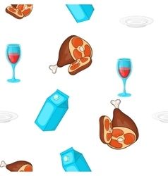Calorie food pattern cartoon style vector
