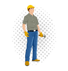 Cartoon of a worker vector