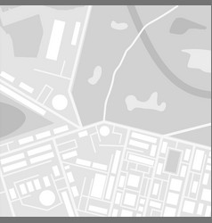City suburban map in black and white vector