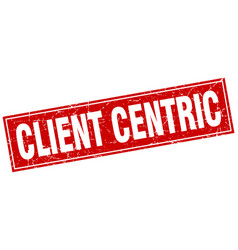 Client centric square stamp vector