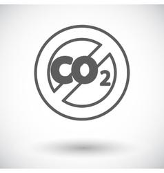 CO2 icon vector