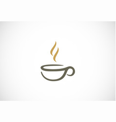 coffee cup cafe logo vector image