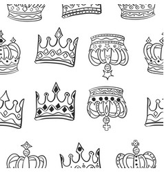 Collection crown various pattern style vector