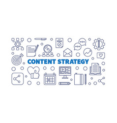 content strategy concept outline horizontal vector image