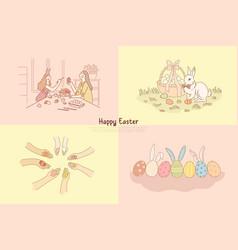 eggs hunt decoration pysanka with multicolor vector image