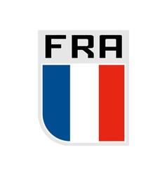 Flag france icon vector