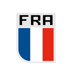 Flag of france icon vector