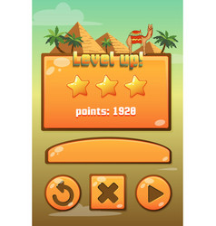 Game user interface isolated elements vector