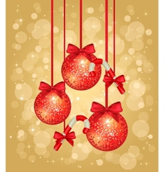 gold christmas greeting card vector image
